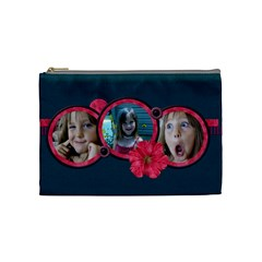Tickled Pink Medium Cosmetic Bag By Lisa Minor   Cosmetic Bag (medium)   Vgo8u2ku6b4a   Www Artscow Com Front