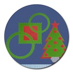 Christmas tree 1 - Round Mousepad