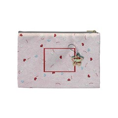With Love   Pink By Daniela   Cosmetic Bag (medium)   Azu14o6ess1v   Www Artscow Com Back