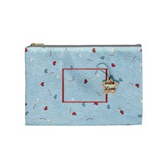 With Love   Blue By Daniela   Cosmetic Bag (medium)   5p9dkjjkov62   Www Artscow Com Front