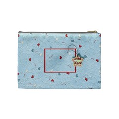With Love   Blue By Daniela   Cosmetic Bag (medium)   5p9dkjjkov62   Www Artscow Com Back