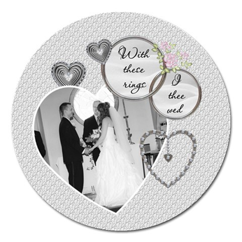 Wedding 5  Magnet By Lil    Magnet 5  (round)   Wugcw5uh7dkn   Www Artscow Com Front
