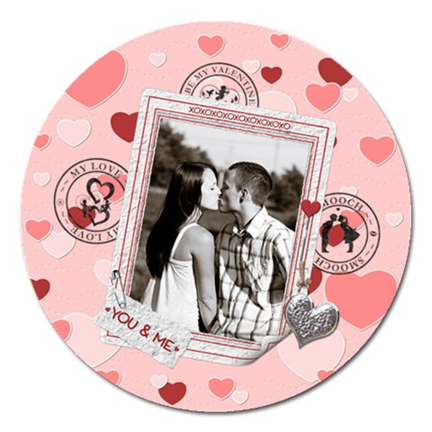 Be My Valentine 5  Magnet By Lil    Magnet 5  (round)   X5613iturbo6   Www Artscow Com Front