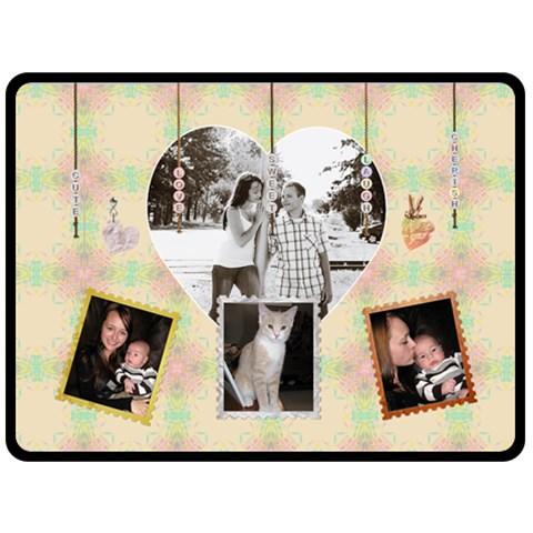 Pastel Love Family Xl Fleece Blanket By Lil    Fleece Blanket (large)   36cybizcds7z   Www Artscow Com 80 x60 Blanket Front