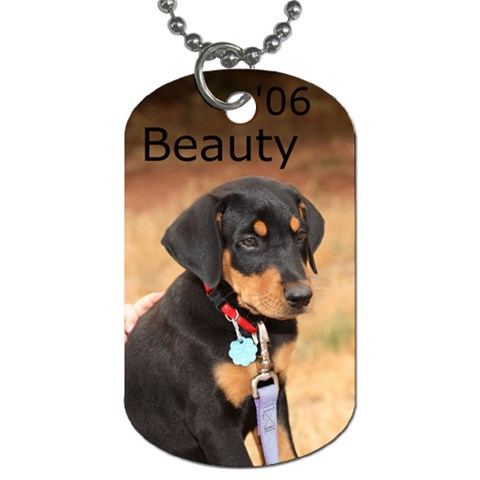 Beauty Tag By Pattie   Dog Tag (one Side)   B37z3ehwrdmi   Www Artscow Com Front
