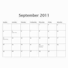 2011 Hunnell Calendar By Susan   Wall Calendar 11  X 8 5  (12 Months)   Chebl8ja89lg   Www Artscow Com Sep 2011