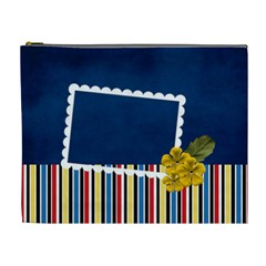 Xl  Blue And Stripes By Jennyl   Cosmetic Bag (xl)   Xcbqw1nwb173   Www Artscow Com Front