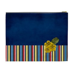 Xl  Blue And Stripes By Jennyl   Cosmetic Bag (xl)   Xcbqw1nwb173   Www Artscow Com Back