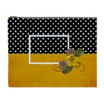 XL- Yellow and Black - Cosmetic Bag (XL)