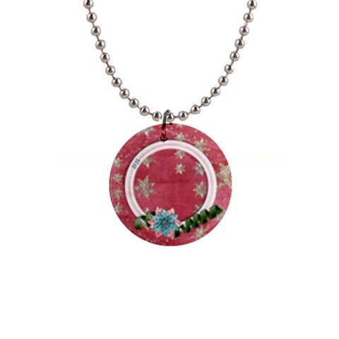 Floral Frame2 Button Necklace By Mikki   1  Button Necklace   Gv0pocpnhjd4   Www Artscow Com Front