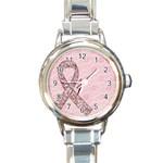 Breast Cancer Awareness-watch - Round Italian Charm Watch