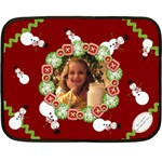 happy holidays blanket - Mini Fleece Blanket
