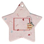 With love - pink - Ornament (Star)