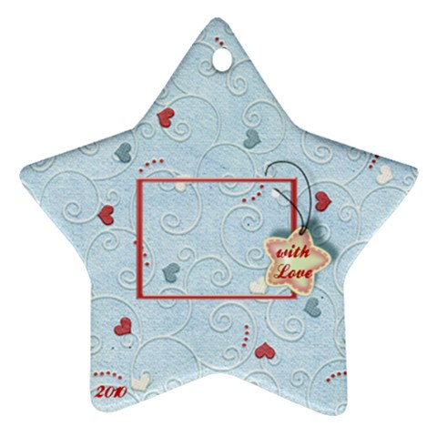 With Love 2010   Blue By Daniela   Ornament (star)   40powollfuzm   Www Artscow Com Front