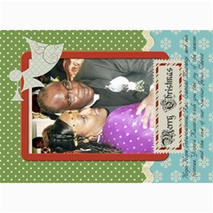 Hhichristmas By Nicole   5  X 7  Photo Cards   Acqf9csyux2u   Www Artscow Com 7 x5 Photo Card - 1