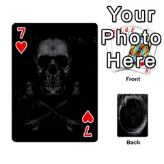 Goth Playin Cards By Brad   Playing Cards 54 Designs   Pyj0k00r8pif   Www Artscow Com Front - Heart7