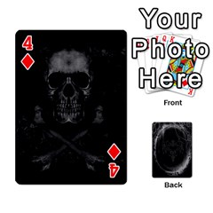 Goth Playin Cards By Brad   Playing Cards 54 Designs   Pyj0k00r8pif   Www Artscow Com Front - Diamond4