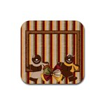 Gingy Holiday Coaster 1 - Rubber Square Coaster (4 pack)