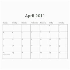 Calendar By Nikki   Wall Calendar 11  X 8 5  (12 Months)   D6r2s2jtsbjm   Www Artscow Com Apr 2011