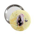 Pretty Yellow Handbag Mirror - 2.25  Handbag Mirror