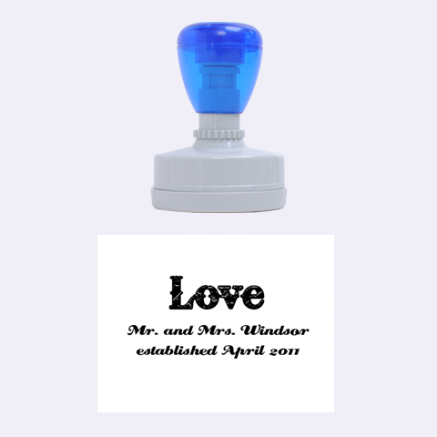 Love Mr And Mrs  Stamp By Patti And Michelle   Rubber Stamp Oval   Whoawc6n93iw   Www Artscow Com 1.88 x1.37  Stamp