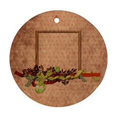 Septembers Blush 2 Sided Ornament By Lisa Minor   Round Ornament (two Sides)   St22wezqoad8   Www Artscow Com Front
