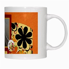 Tangerine Breeze Mug 1 By Lisa Minor   White Mug   Oaa795fsgil1   Www Artscow Com Right