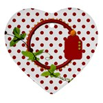 Miss Ladybugs Garden Heart Ornament 1 - Ornament (Heart)