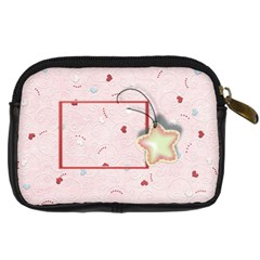 With Love Pink By Daniela   Digital Camera Leather Case   Snnpsiry3hh2   Www Artscow Com Back