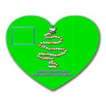 Merry Christmas green - Mousepad (Heart)