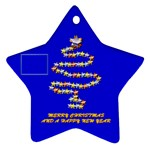 Merry Christmas blue - Ornament (Star)