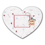 With Love - Heart Mousepad