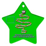 Merry Christmas green - Ornament (Star)