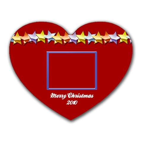 Merry Christmas 2010 By Daniela   Heart Mousepad   Py9kpal3y3qx   Www Artscow Com Front