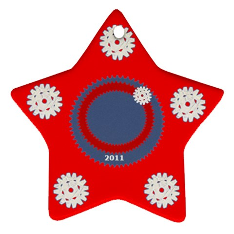 Snowflake Red By Daniela   Ornament (star)   C43azpedh6cy   Www Artscow Com Front