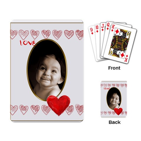 Love Heart Gold Vignette Playing Cards By Catvinnat   Playing Cards Single Design (rectangle)   B672g33gwoav   Www Artscow Com Back