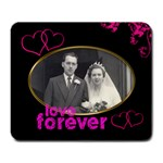 love forever wedding mouse mat - Large Mousepad