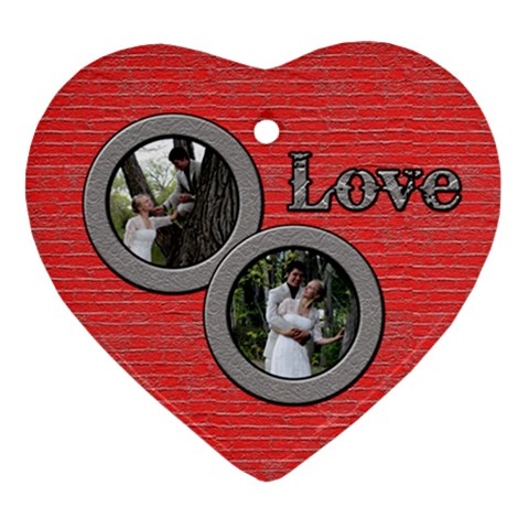 Love Ornament Double Pics By Patti And Michelle   Ornament (heart)   0xi0akckroo4   Www Artscow Com Front