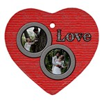 love ornament double pics - Ornament (Heart)