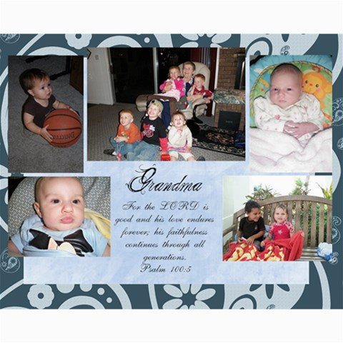 Great Grandkid Collage By Melissa Bush   Collage 8  X 10    0er1ahld8n5c   Www Artscow Com 10 x8 Print - 1