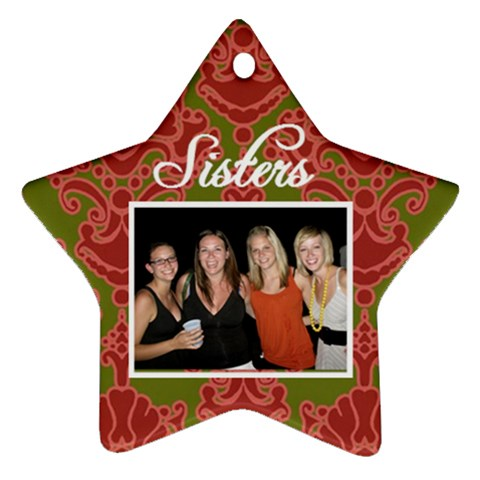 Sisters Ornament By Brooklyn Jones   Ornament (star)   Yxw04dfnckn2   Www Artscow Com Front