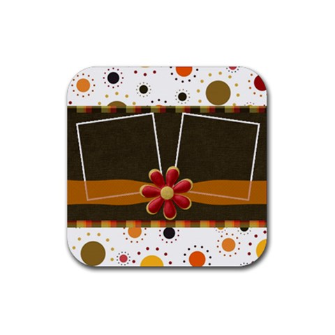 Kit H&h Coaster Set 1 By Lisa Minor   Rubber Square Coaster (4 Pack)   7tcmugrwtsv3   Www Artscow Com Front