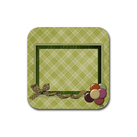 Septembers Blush Coaster Set 1 By Lisa Minor   Rubber Square Coaster (4 Pack)   Xpapo53ihh1q   Www Artscow Com Front