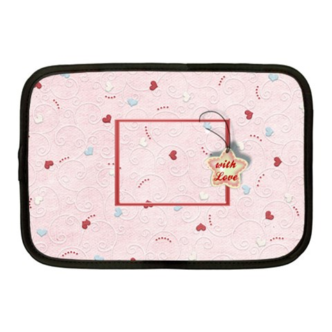 With Love   Pink By Daniela   Netbook Case (medium)   Qwzsfvwmxzqs   Www Artscow Com Front