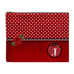 Xl  Cosmetic Case   Red/polka Dots By Jennyl   Cosmetic Bag (xl)   N6kd3e7cr70v   Www Artscow Com Front