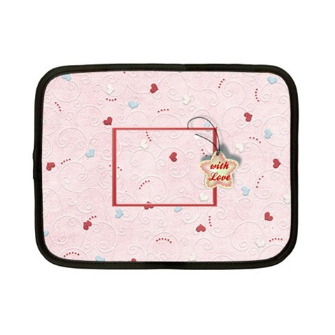 With Love   Pink By Daniela   Netbook Case (small)   8j72rt636s25   Www Artscow Com Front