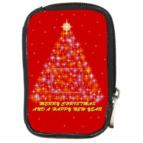 Merry Christmas By Daniela   Compact Camera Leather Case   1pqsyt31airy   Www Artscow Com Front