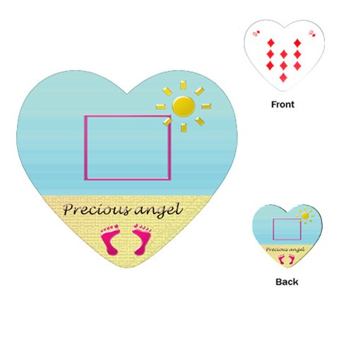 Precious Angel By Daniela   Playing Cards (heart)   Xqgaoiktvae1   Www Artscow Com Front
