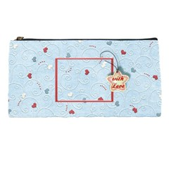 With Love Blue By Daniela   Pencil Case   96gmtxn4jo9e   Www Artscow Com Front