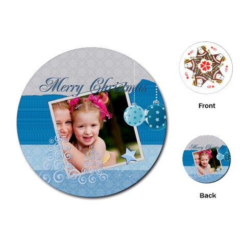 Christmas By Joely   Playing Cards (round)   Yhybfp2i7qz6   Www Artscow Com Front